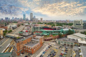 Locksmith in Boston, MA - Aerial image of Fenway Park sports stadium home to the Boston Red Socks